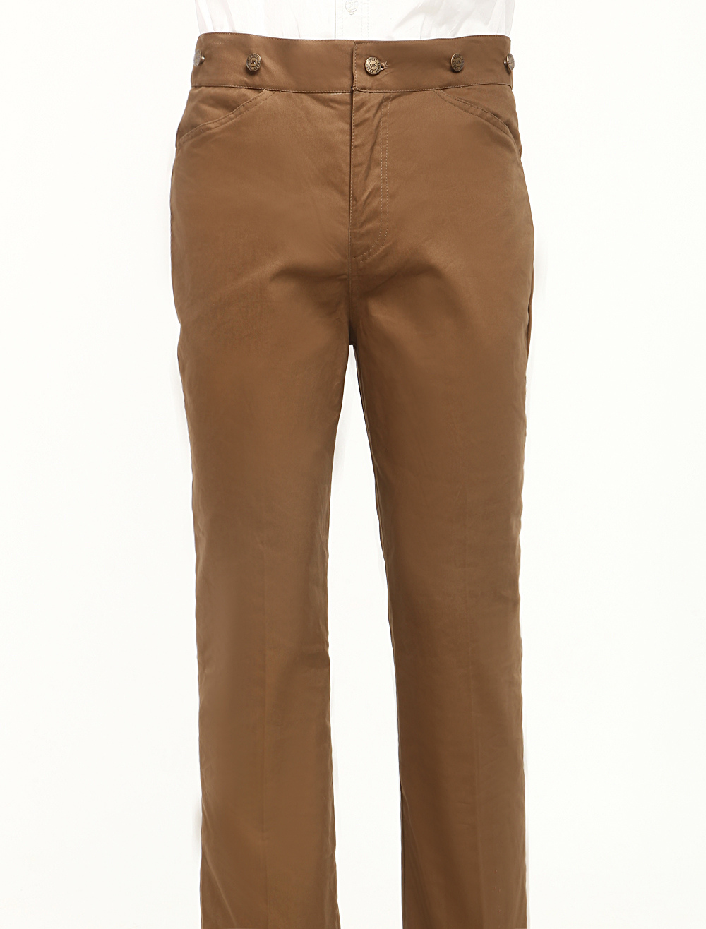 Modern Nut-brown Cotton Mens Steampunk Trousers $49.99 AT vintagedancer.com
