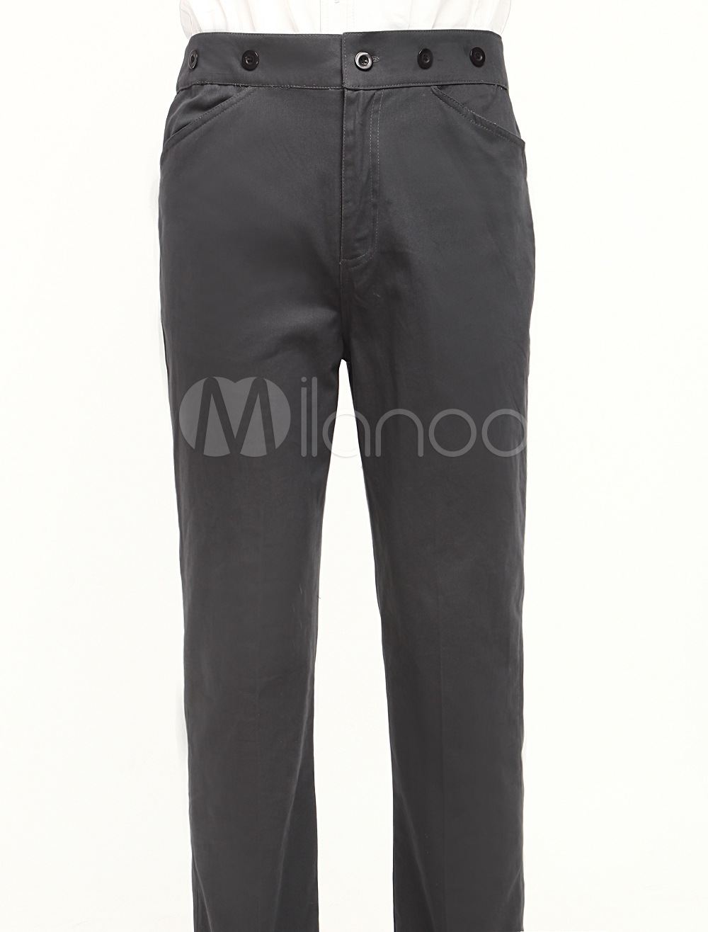 Popular Gray Cotton Mens Steampunk Trousers $49.99 AT vintagedancer.com