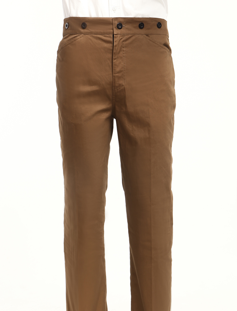Wonderful Dark Brown Cotton Mens Steampunk Trousers $49.99 AT vintagedancer.com