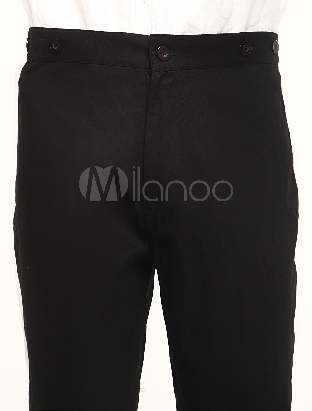 Modern Black Cotton Mens Steampunk Trousers $49.99 AT vintagedancer.com