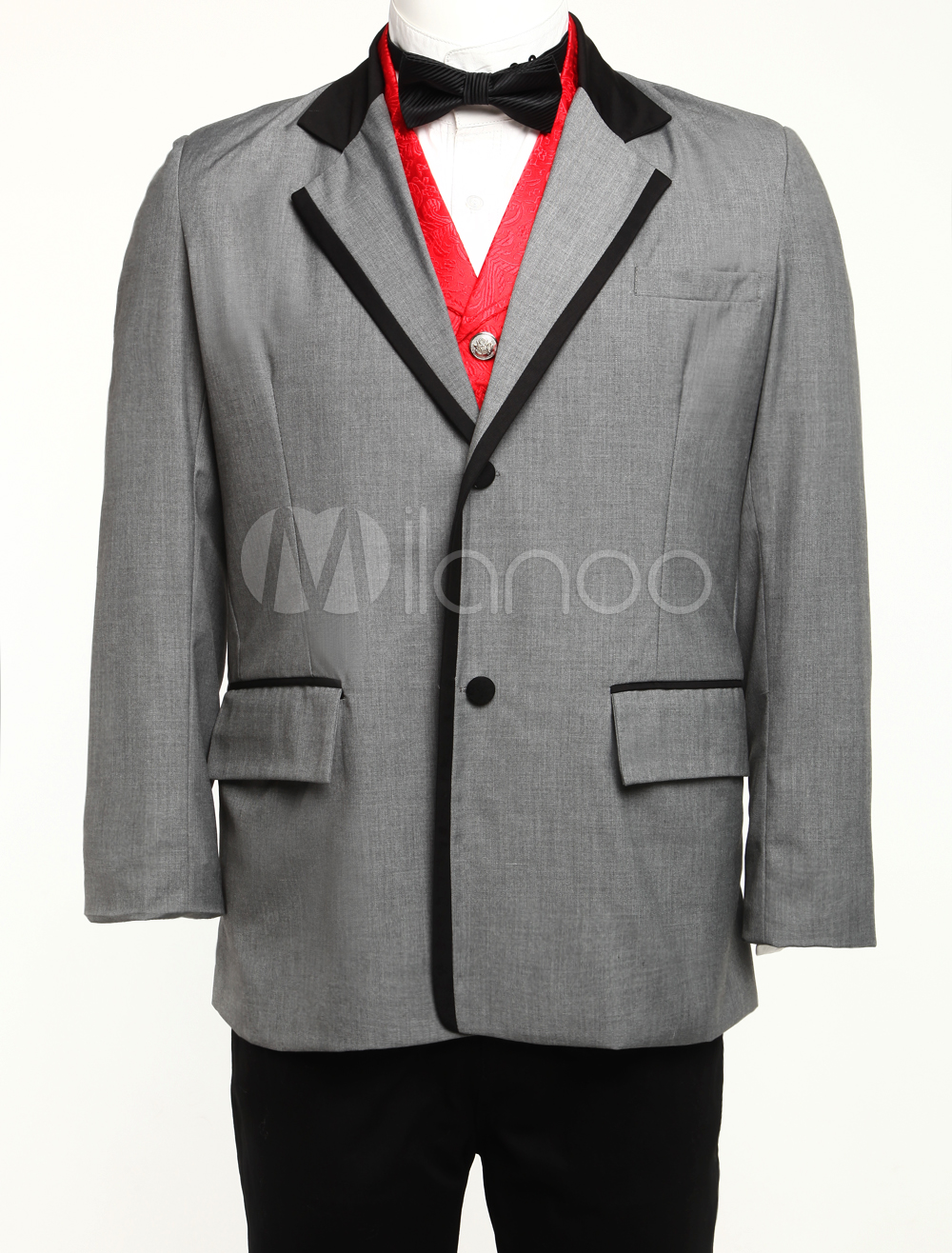 Well-fitting Dark Gray Jazz Cloth Mens Coat $74.99 AT vintagedancer.com