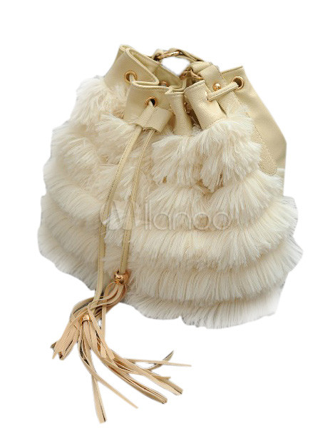 Artwork Unspecified Shape Faux Fur Hobo Bag For Women