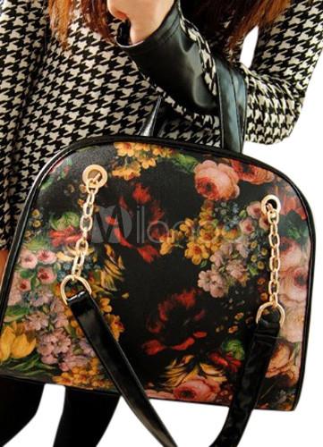 Fashion Black Unspecified Shape PU Leather Woman's Tote Bag