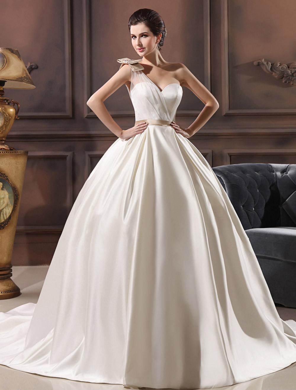 Accessori Bagno Acquisto On Line : Vestito da sposa avorio in satin con collo a cuore linea
