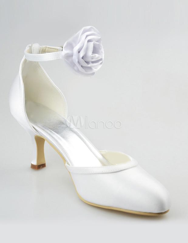 heel round toe silk and satin cute women 39 s wedding shoes