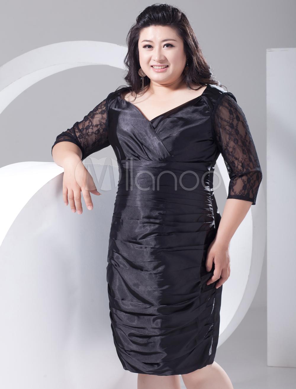 2013 Style Sheath Dark Navy Chiffon Plus Size Cocktail Dress