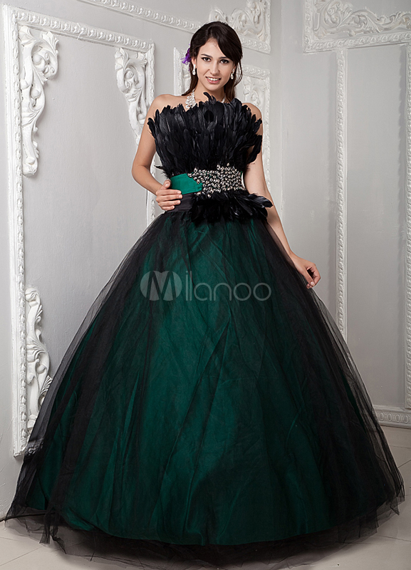 Classic Ball Gown Dark Green Quinceanera Dress