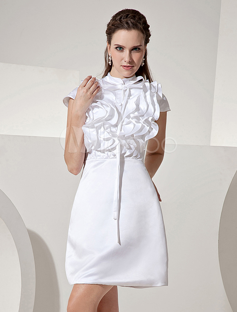 Купить Платье Белое Атласное