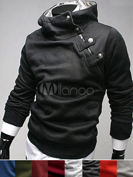 New Arrival Fashion Buttons Cotton Men's Desmond Hoodie(9 Colors)
