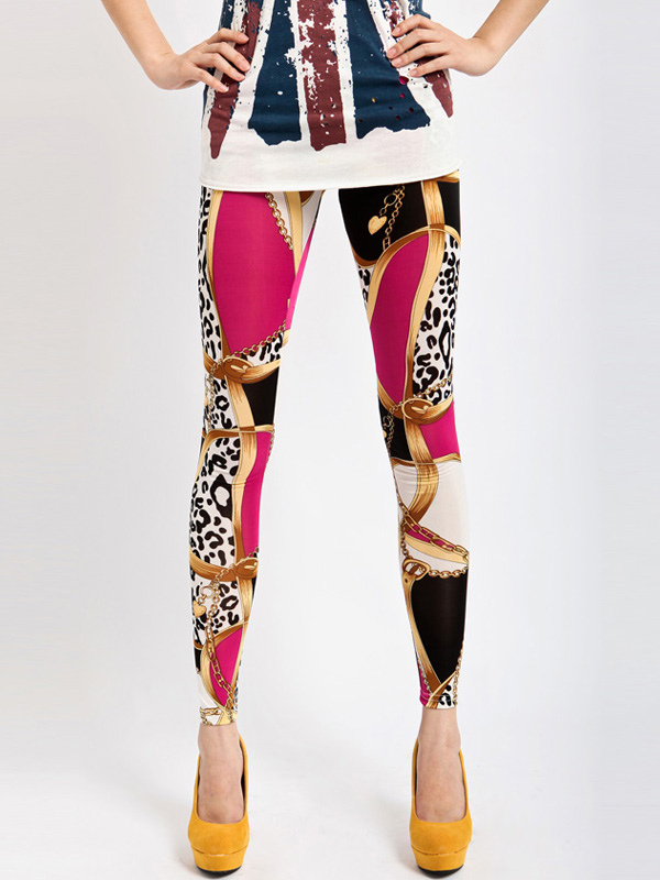 Gorgeous Printed Polyester Womens Leggings