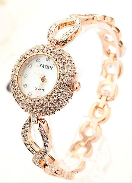 Shiny Rhinestone Glitter Teen Girl's Cool Casual Watch