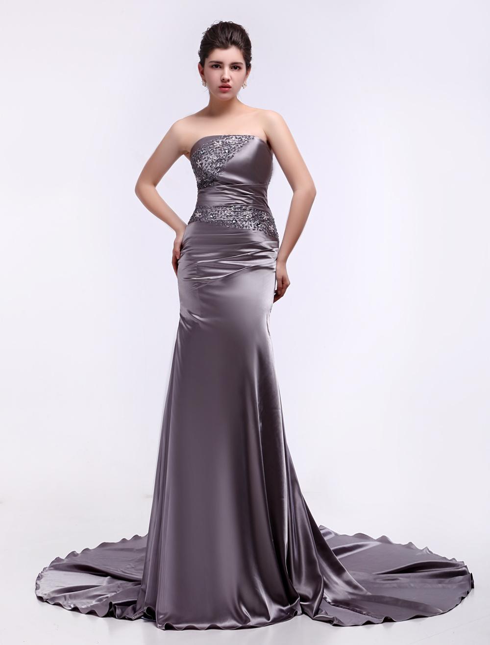 Elastic Woven Evening Dress (Wedding Evening Dresses) photo