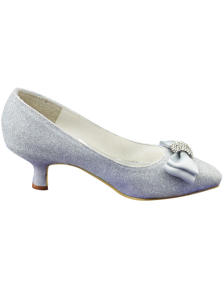 Heel Silver Pumps