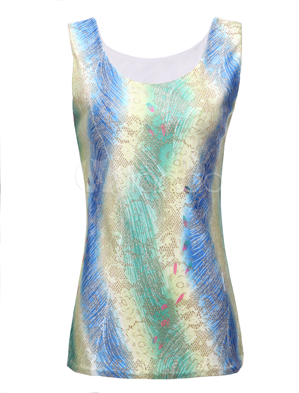 Quality multi color tie dye shaping sleeveless tee shirt for Tie dye sleeveless shirts