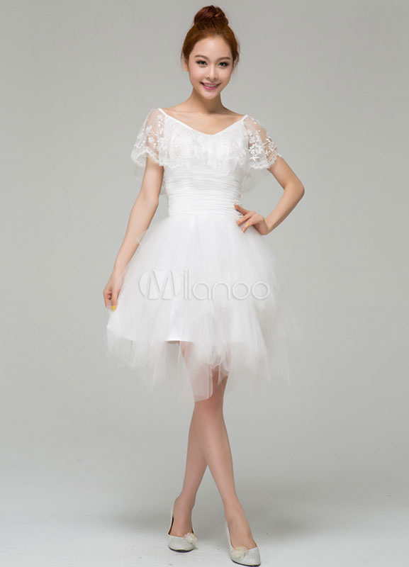 A Variety Of Dresses White Cocktail Dresses With Sleeves