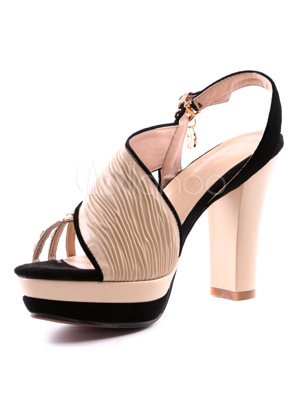 Apricot Colored Low Heel Shoes