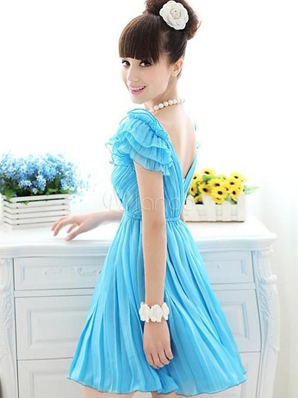 meilleur blog robe robe bleu ciel courte. Black Bedroom Furniture Sets. Home Design Ideas