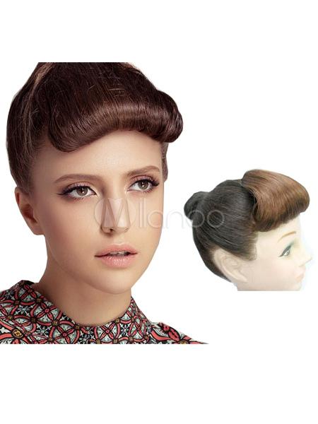 Deep Brown Kanekalon Short Curly Hair Extensions For Women - Milanoo