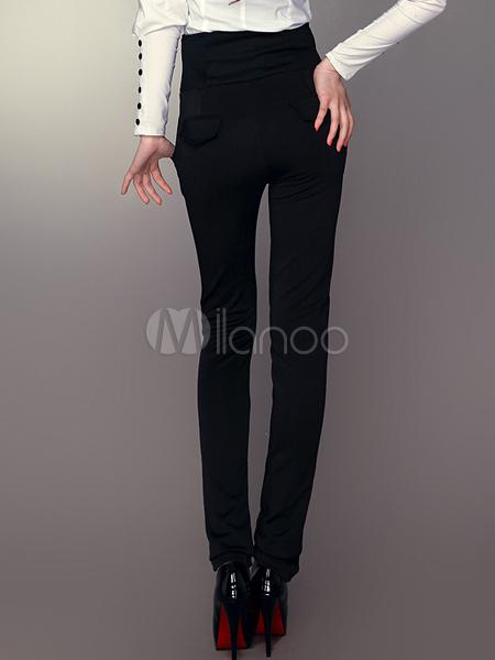 Slim Taille Haute Noir Slim de Taille Haute