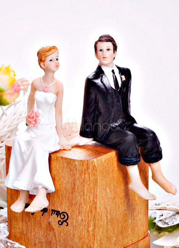 Beach Figurine Classic Couple Wedding Cake Topper