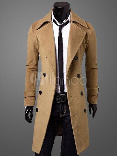 stilvoller herren mantel mit zweireiher