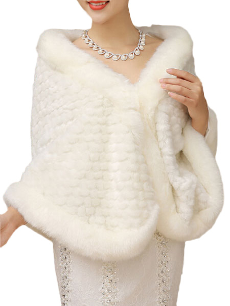 White Faux Fur Cape $29.99 AT vintagedancer.com