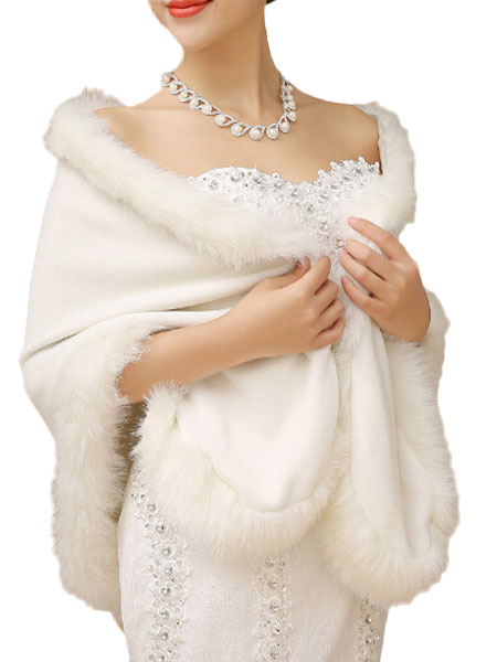 White Faux Fur Cape $22.99 AT vintagedancer.com