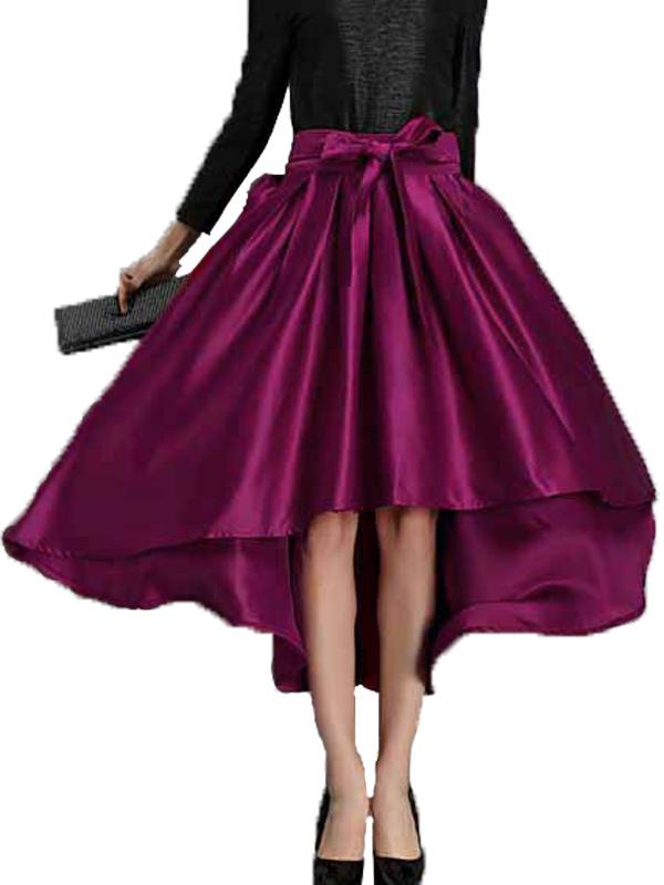 high low vintage skirt milanoo