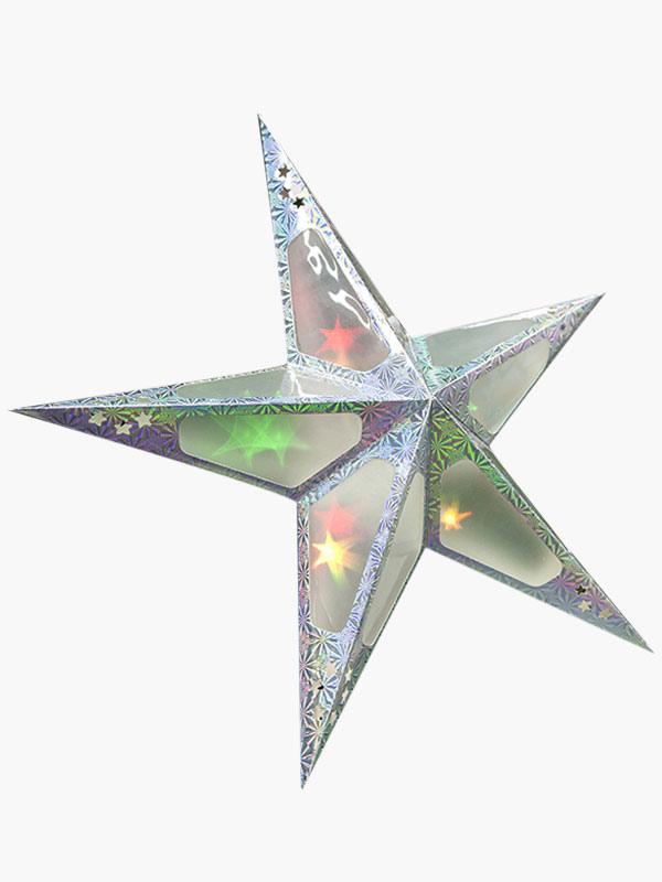 Christmas silver star decor milanoo