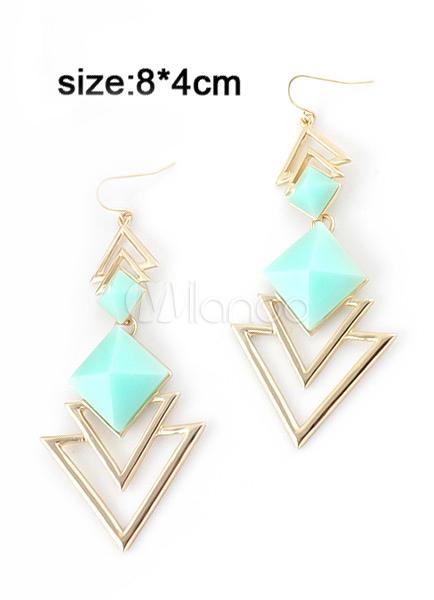 resin triangle dangle earrings. Black Bedroom Furniture Sets. Home Design Ideas