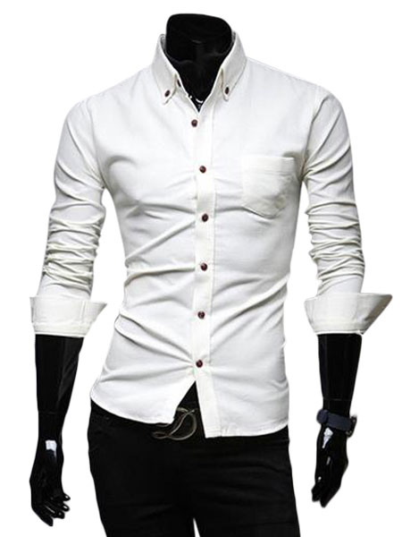 casual cotton men 39 s extra slim fit dress shirt with spread