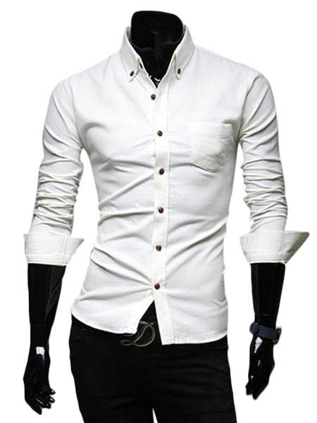 Casual cotton men 39 s extra slim fit dress shirt with spread for Extra slim dress shirt