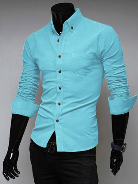 Casual cotton men 39 s extra slim fit dress shirt with spread for Dress shirt fitted vs slim
