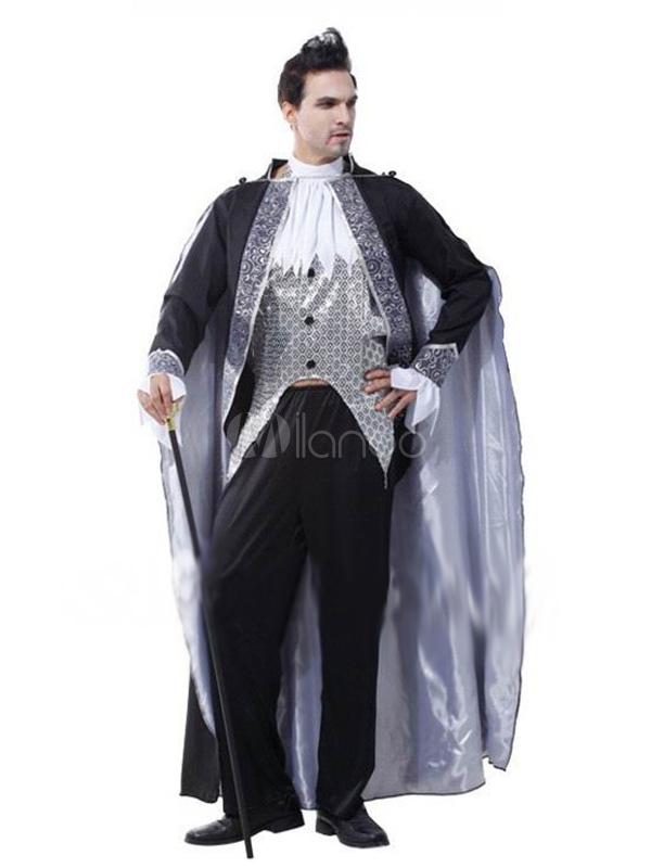 costume halloween de vampire pour homme en polyester. Black Bedroom Furniture Sets. Home Design Ideas