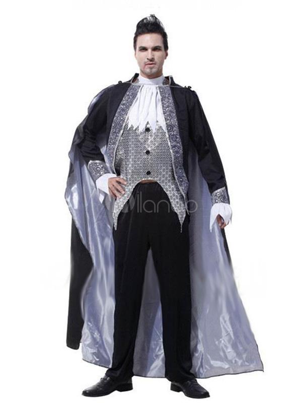 Costume halloween de vampire pour homme en polyester - Costume halloween homme original ...