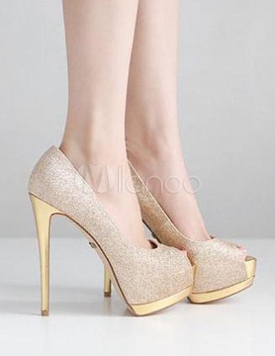 Scarpe Tacco Oro