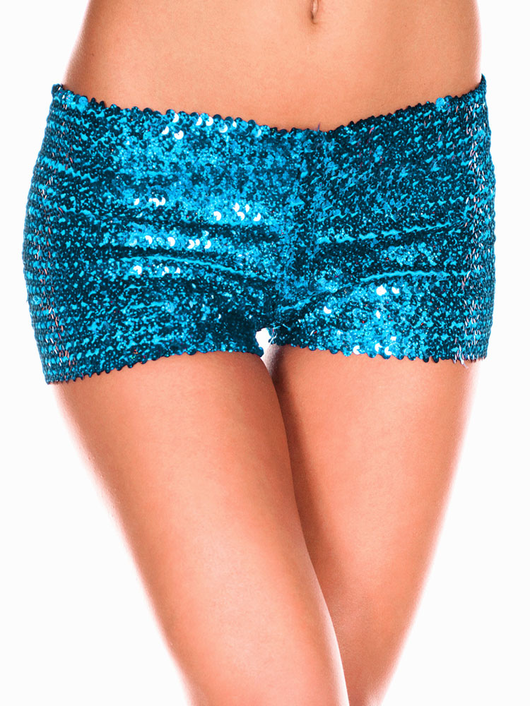 Red Sexy Sequined Shorts - Milanoo.com