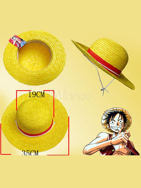 One Piece Monkey D Luffy Straw Hat Pirates Cosplay Hat
