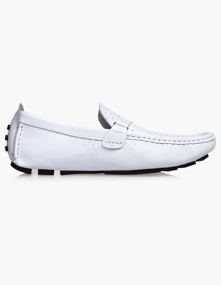 popular cowhide slip on s loafer shoes milanoo