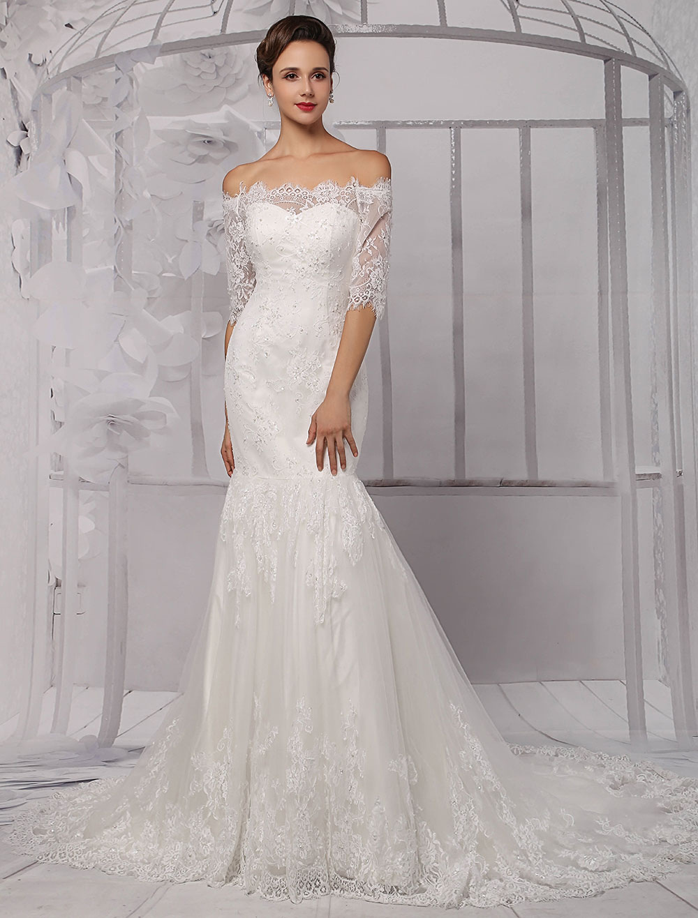 Trumpet Style Wedding Dresses Lace : Trumpet style wedding dress photo album watch out there s a clothes