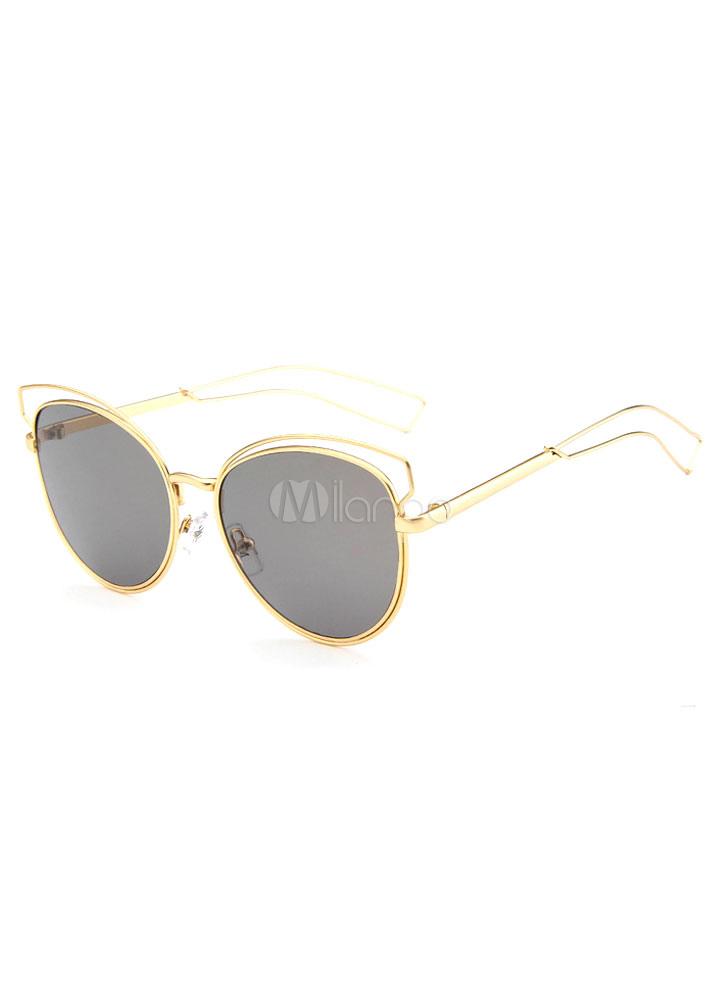Metallic Rimless Sunglasses
