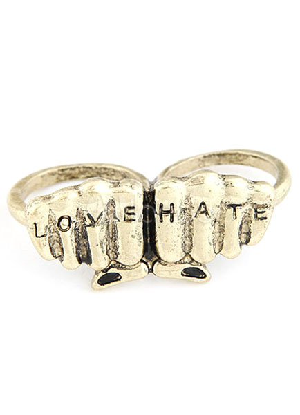 Bronze Butterfly Vintage Rings