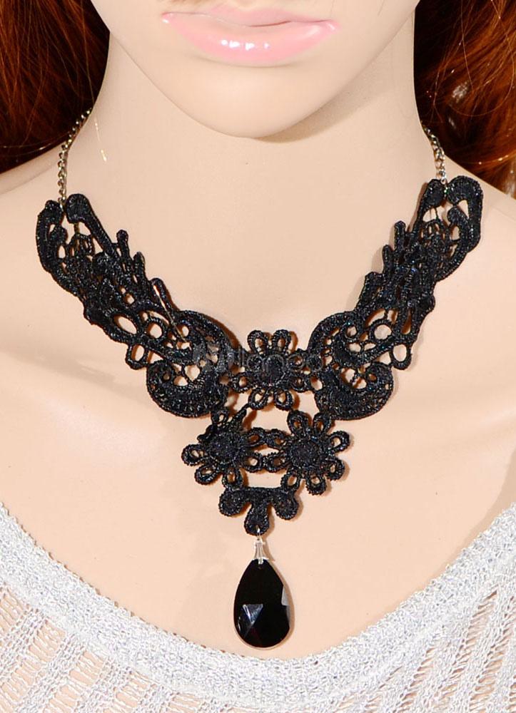 Vintage Drops Lace Necklace