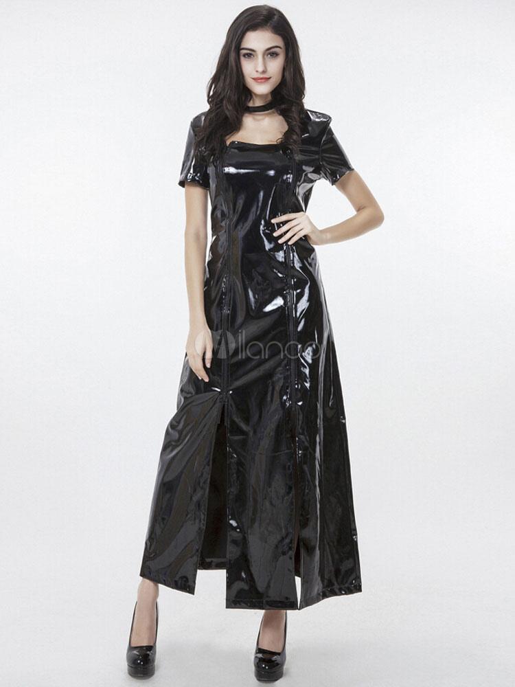 18e65e5d41c1 Short Sleeve Glitter Pu Steampunk Club Dress steampunk buy now online