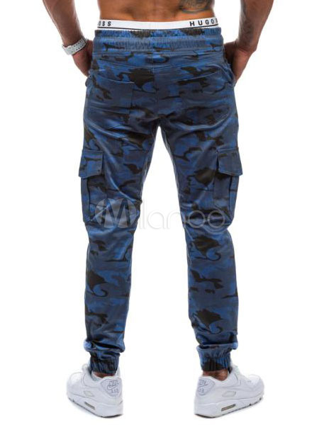 camouflage hose herren blau gr ne sweat hose hosen jogger. Black Bedroom Furniture Sets. Home Design Ideas