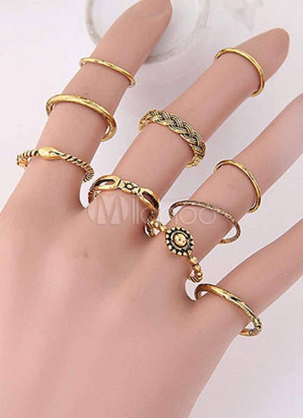 Women's Ring Sets 10-piece Chic Alloy Ring thumbnail