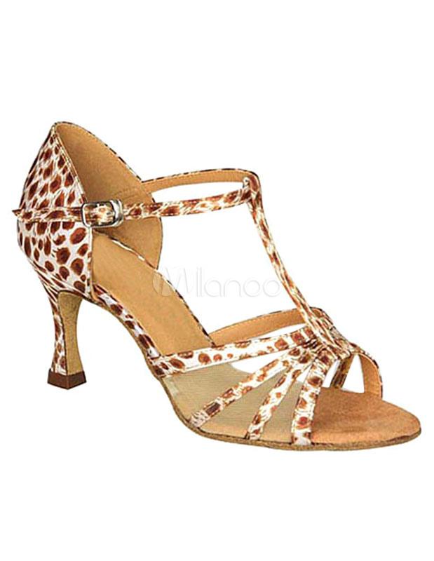 leopard gesellschaftstanz schuhe high heel sandaletten f r. Black Bedroom Furniture Sets. Home Design Ideas
