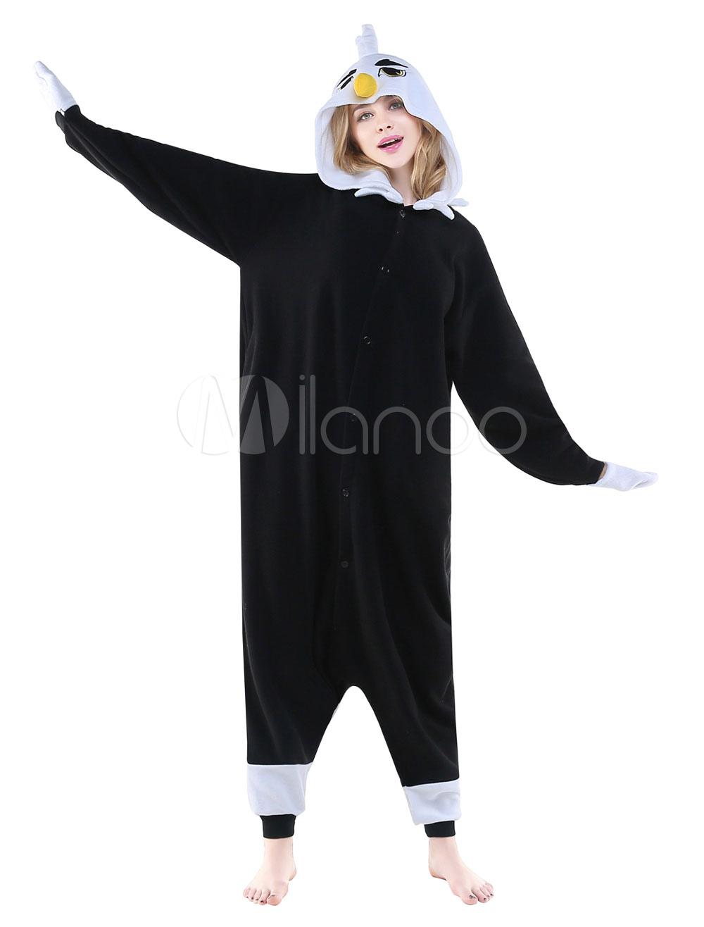 183d9a61170 Kigurumi Pajama Black Eagle Onesie Adults Flannel Unisex Sleepwear Costume  Halloween photo