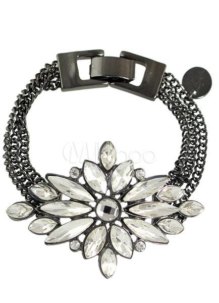 Women's Vintage Bracelet Rhinestone Alloy Flower Wrist Accessories