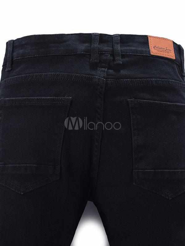 schwarze skinny jeans m nner gerade gedruckt moderne denim. Black Bedroom Furniture Sets. Home Design Ideas